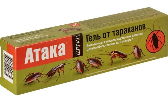 гель-атака от тараканов
